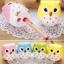 2Pcs Cute Owl Pattern Pencil Sharpener School Kid's Favorite Stationery Sup - $5.99