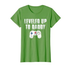 Dad Shirts - Leveled Up To Daddy New Dad Est 2018 Shirt for Gamers Wowen - $19.95+