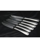 "Gorham Crown Bead Dinner Knives 9"" Set of 6   - $35.27"