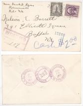 1935 Ransomville NY Buffalo Ellicott Square Building Registered Cover! #... - $6.79