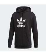 Adidas Originals Men's Trefoil Pullover Hoodie NEW AUTHENTIC Black/White... - $54.49