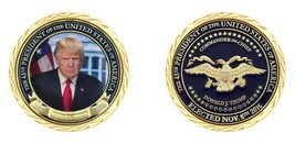 """45TH ELECTED PRESIDENT DONALD TRUMP COMMANDER IN CHIEF 1.75"""" CHALLENGE COIN - $16.24"""