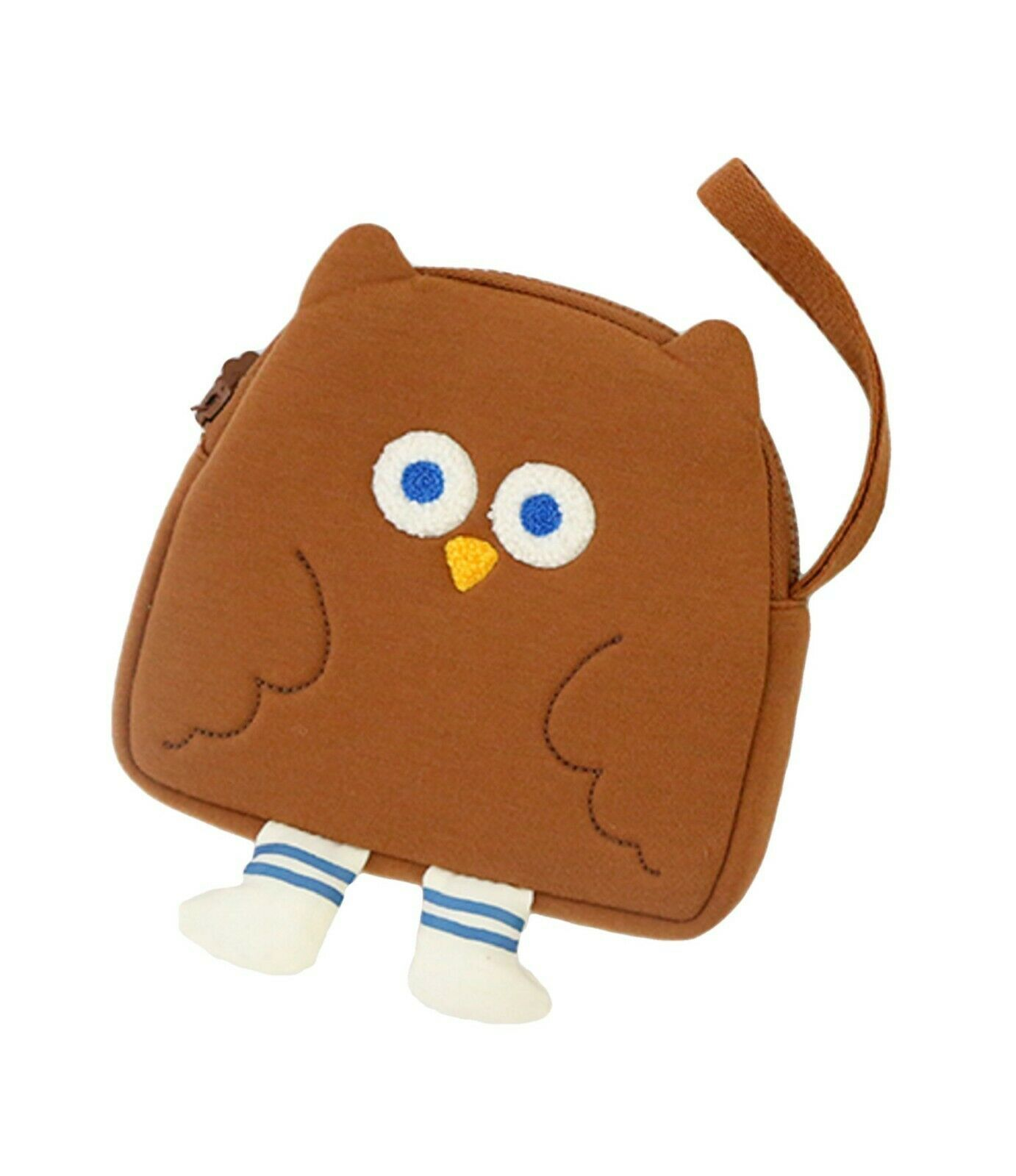 Brunch Brother Flying Owl Pouch Cosmetic Bag Case Organizer (Brown)