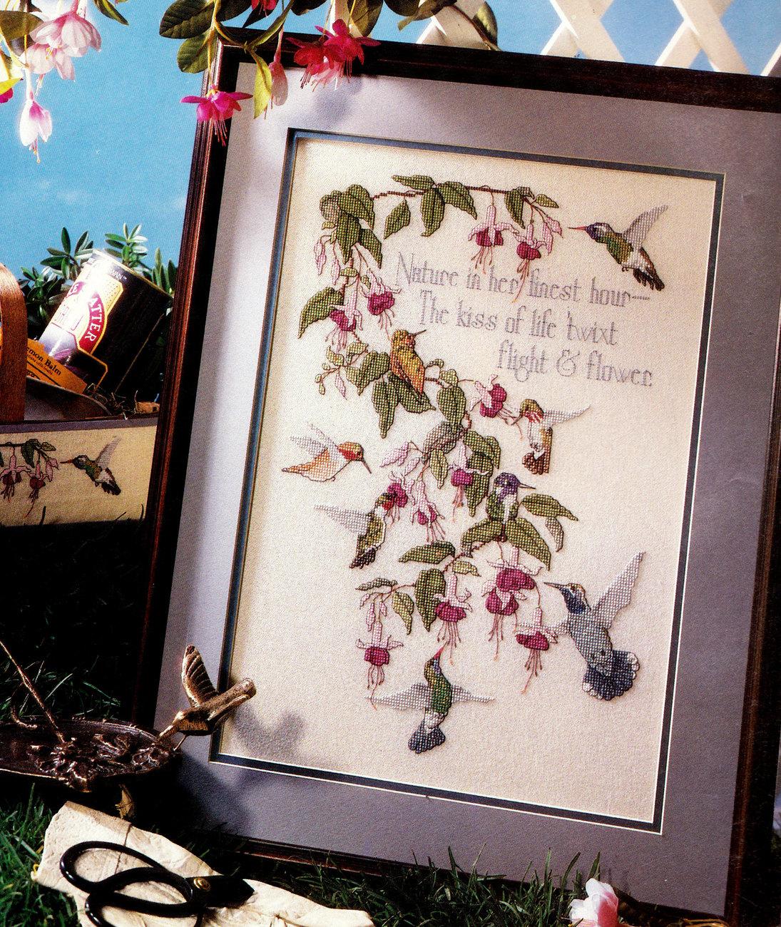cross stitch country crafts hummingbirds cross stitch