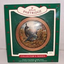 Hallmark Keepsake Ornament Holiday Wildlife Partridge #4 In Series 1985 - $5.00