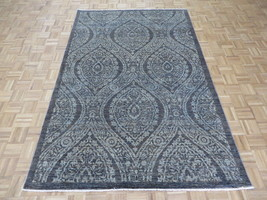5'8 x 8'8 Hand Knotted Charcoal Gray Peshawar Oushak Oriental Rug G5107 - $1,056.65