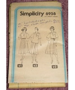 Simplicity 8958 Sewing pattern Top & Skirt Size... - $3.00