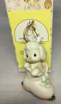 Precious Moments Ornament When The Skating's Ruff, Try Prayer 1996 183903 - $8.82