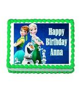 Frozen Fever Edible Cake Image Cake Topper Decoration - $7.84