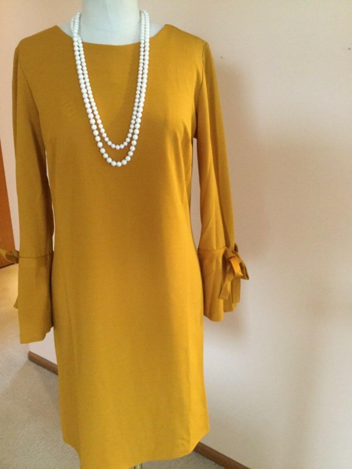 Women's Dress,XL,Yellow,Long Sleeves ,Armani Collezioni,NWOT