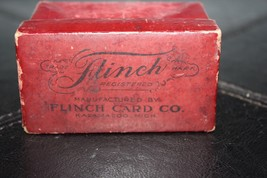 1913 ANTIQUE CARD GAME FLINCH 150 Cards COMPLETE BOX & INSTRUCTION Sears... - $49.99