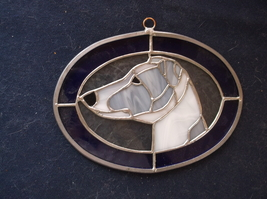 Italian Greyhound-  Original design Stained Glass by Ingrid Jonsson. - $45.00