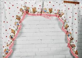 Vintage Strawberry Shortcake Valance Curtain - Ruffle Swag Rod Pocket 19... - $57.42