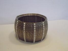 Wildlife by Heidi Klum Hammered Crystal Stretch Bracelet  BRASSTONE - $24.30