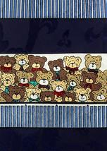 Teddy Bears Men's Neck Tie Novelty Wildlife Toy Bear Animal Dress Blue Necktie image 2