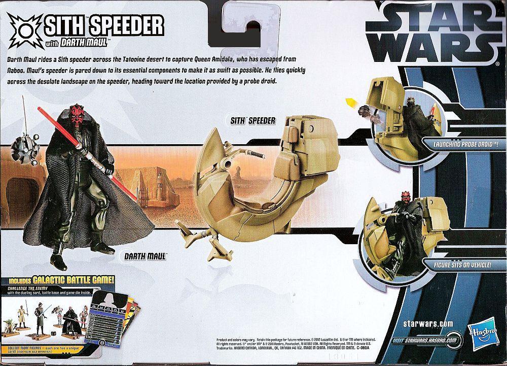 Star Wars Sith Speeder Vehicle Darth Maul 3.75 in action figure