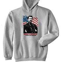 George B Mcclellan - New Cotton Grey Hoodie - $40.34