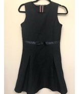 Nautica Girls LARGE (12-14) Dress Navy Sleeveless Bow K6 - $9.89