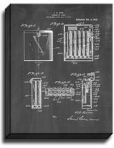 Cigarette Case Patent Print Chalkboard on Canvas - $39.95+