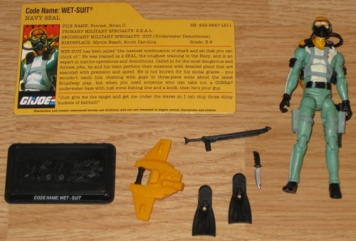 * G.I. Joe Wet-Suit from Assault on Cobra Island Action Figure