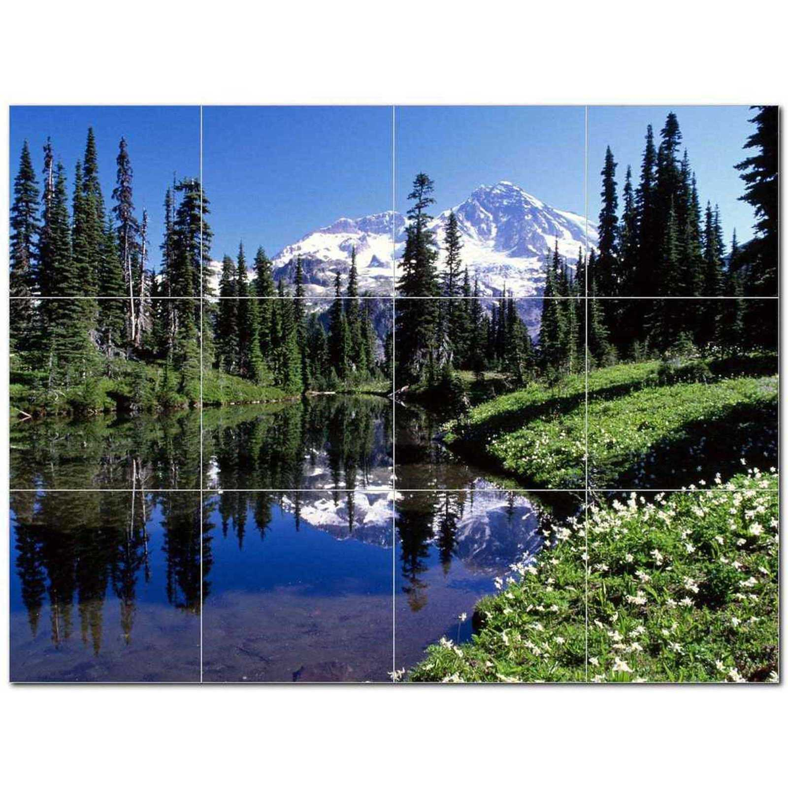 Primary image for Mountain Scene Ceramic Tile Mural Kitchen Backsplash Bathroom Shower BAZ405618