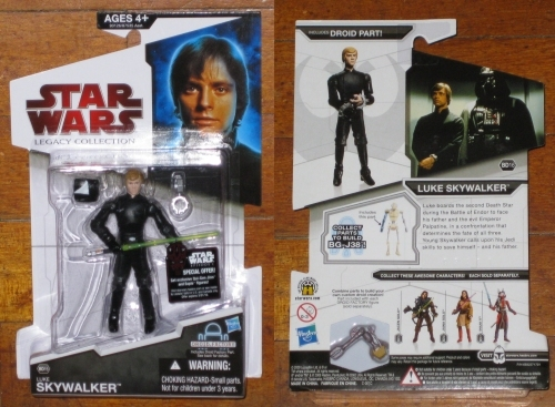 * BD 16 Luke Skywalker with BG-J38 right arm MOC Star Wars Legacy Collection