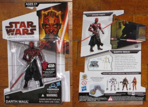* BD 05 Darth Maul with BG-J38 left arm MOC Star Wars Legacy Collection