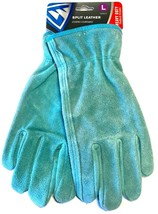 West Chester Women's Split Cowhide Leather Driver Gloves Teal Size Large - $8.79