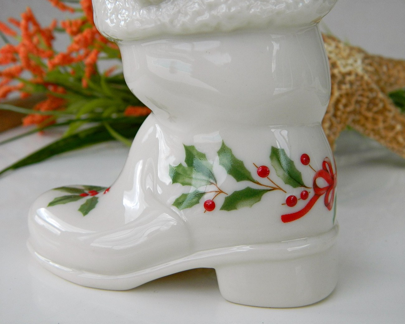 Lenox China Jewels Christmas Holiday 1996 Kitten In Boot Ltd Edition