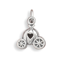 Silver Pumpkin Carriage With Heart Charm - $22.95