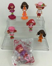Strawberry Shortcake Lot 7pc McDonalds Doll Topper Figures Toys Raspberr... - $11.83