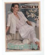 Simplicity March Fashion News 1984 Pastels Sewing Pattern Catalog   - $3.99