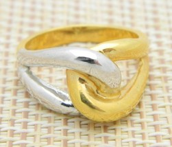 Gold Silver Tone Infinity Ring Size 9.25 Vintage - $19.80