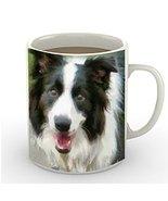 Border Collie 'Archie' 11 Ounce Ceramic Coffee Mug By Doggylips - $14.65