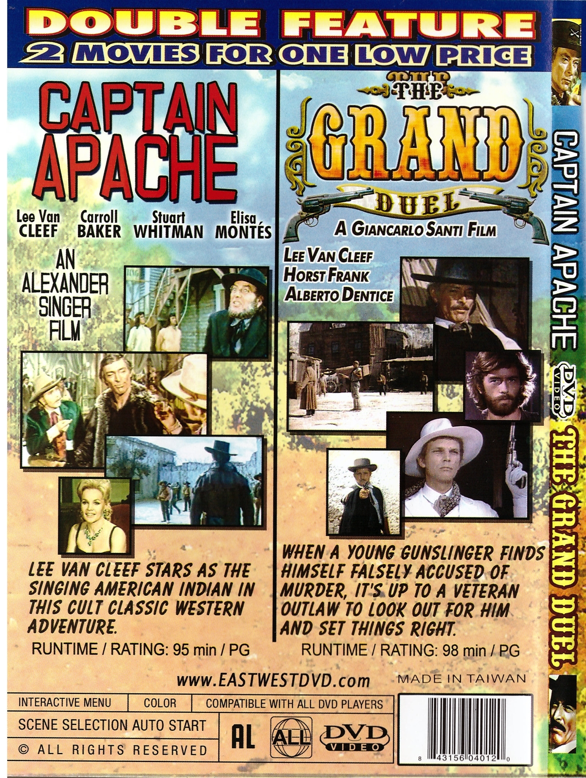 Captain Apache, The Grand Duel DVD Double Feature Lee Van Cleef Western