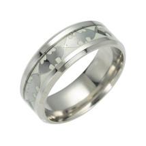 Glow in the Dark Silver Batman 316L Titanium Stainless steel Silver Ring... - $12.99