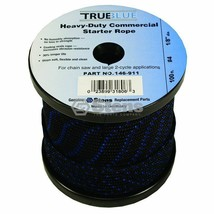 "146-911 Stens 100ft 1/8"" diameter True Blue Starter Rope #4 Solid Braid - $16.99"