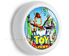 Woody the cowboy Buzz Lightyear Toy story colorful wall clock childrens ... - $25.99