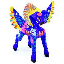 Handmade Alebrijes Oaxacan Wood Carving Painted Folk Art Pegasus Horse Figurine image 5