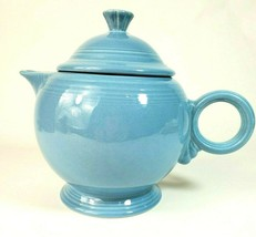 Authentic Homer Laughlin FIESTA BLUE Large Tea Pot - $36.76