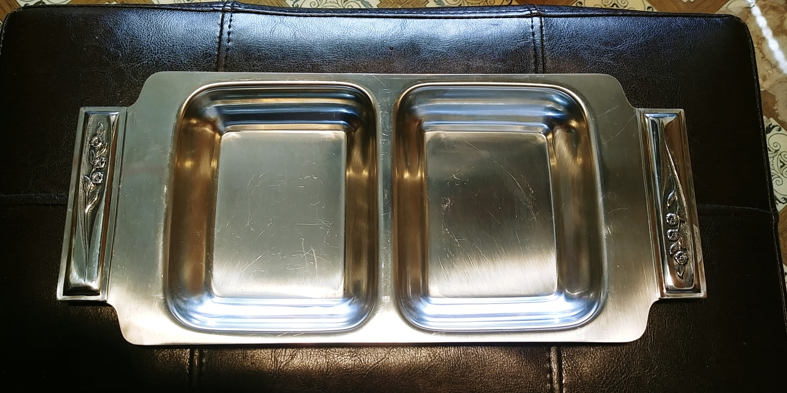 ROGERS insilco 18-8 stainless steel relish tray
