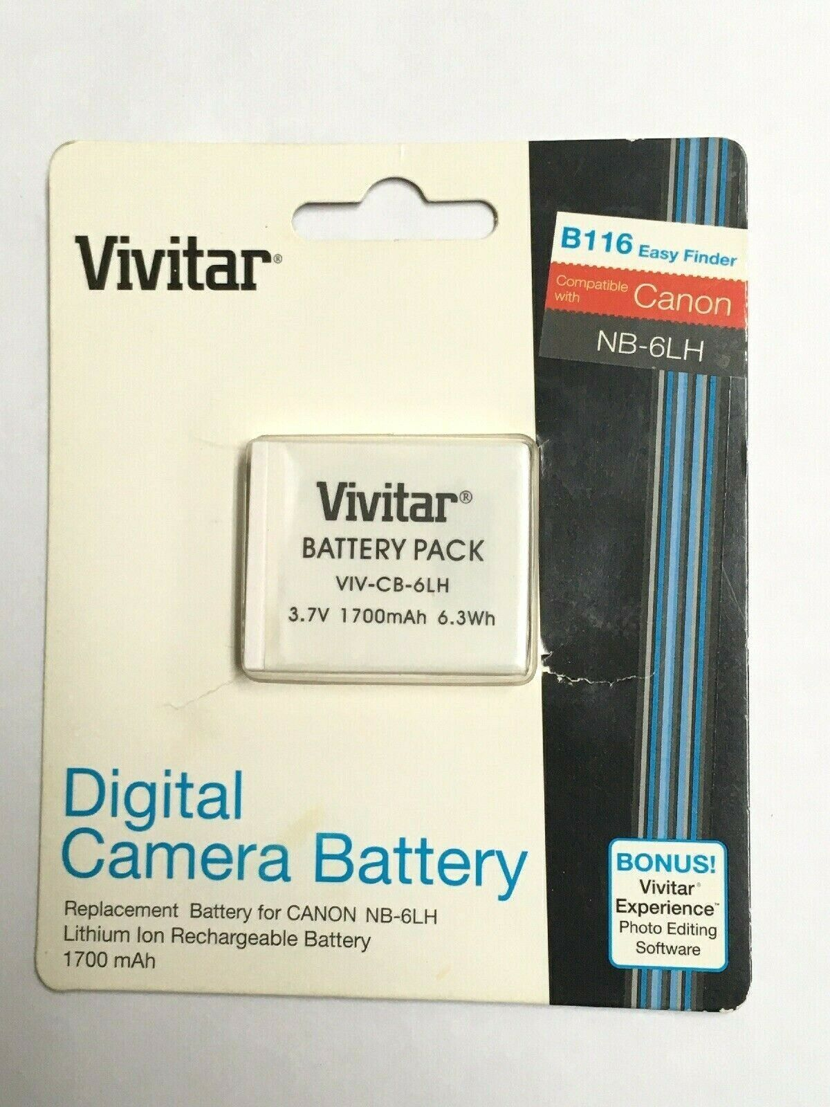 Vivitar NB-6L / NB-6LH Rechargeable Battery (Canon Replacement) 1700 mAH - $9.99