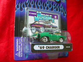 Muscle Machines Green '69 Charger 02-60 Free Usa Shipping - $11.29