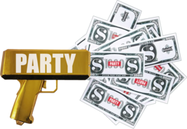Rainmaker Handheld Cash Gun / Bill shooter / Money Gun / Metallic Plated... - $16.82