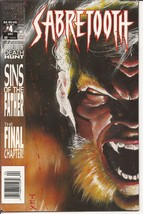 Marvel Sabretooth #4 Death Hunt Sins Of The Father The Final Chapter - $2.95