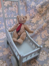 BABY DOLL CARRIAGE  Rustic Primitive Handmade Play Display  Vintage Upcycle - $163.35