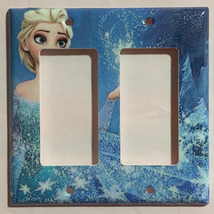 Frozen Elsa snow star Light Switch Toggle Rocker Duplex Outlet wall Cover Plate  image 6