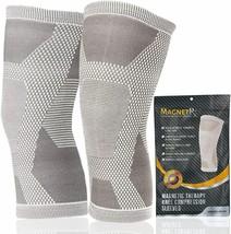 MagnetRX® Magnetic Knee Compression Sleeve - (2-Pack) Knee Support LARGE... - $47.27