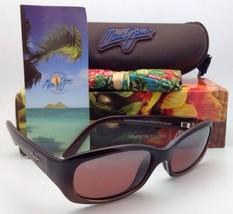 Maui Jim Punchbowl Lunettes de Soleil Mj R 219-01 Chocolat Cadres W / Rose - $219.52