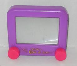 Etch Sketch Pocket Art Ohio Toy Purple Drawing Mini Classic Travel Plast... - $9.50